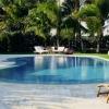 Coral Gables Residence Glass Tiled Deck Edge Pool ©Aqui